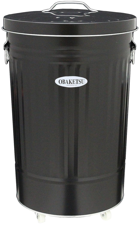カラーオバケツCBK45黒キャスター付 B0050GJGMC