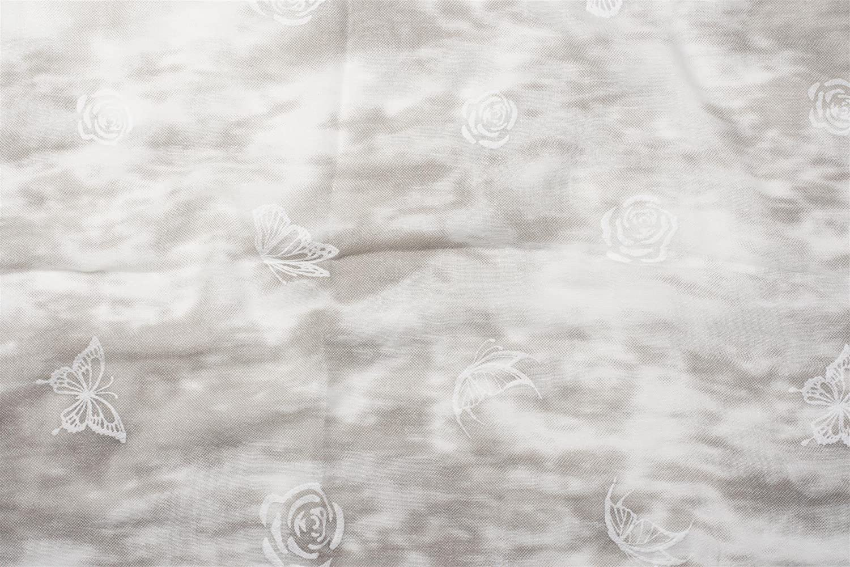 Damen 01016105 styleBREAKER Loop Schal mit Rosen und Schmetterling Flock Print Schlauchschal Tuch