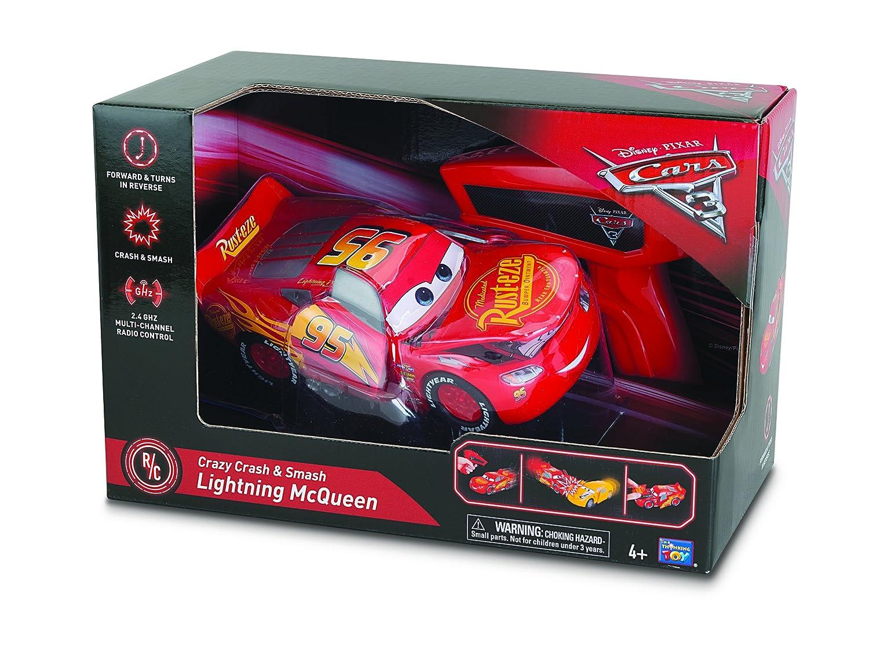 Cars Crazy Crash /& Smash Lightning McQueen RC Car Thinkway Toys 00276