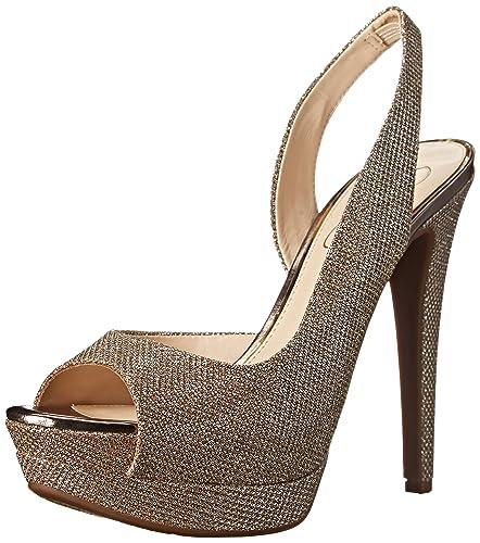 03de10ebc69 Jessica Simpson Women s Sabella Dress Sandal Gold 8.5 ...