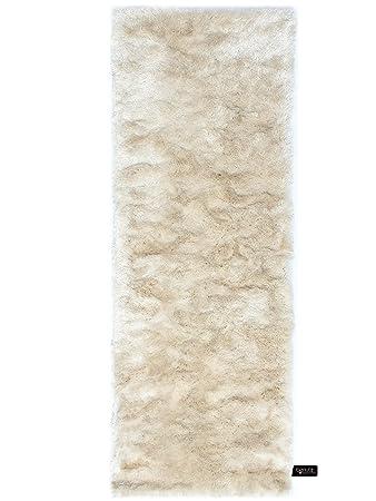 Benuta Shaggy Hochflor Teppich Whisper Lufer Beige 80x300 Cm
