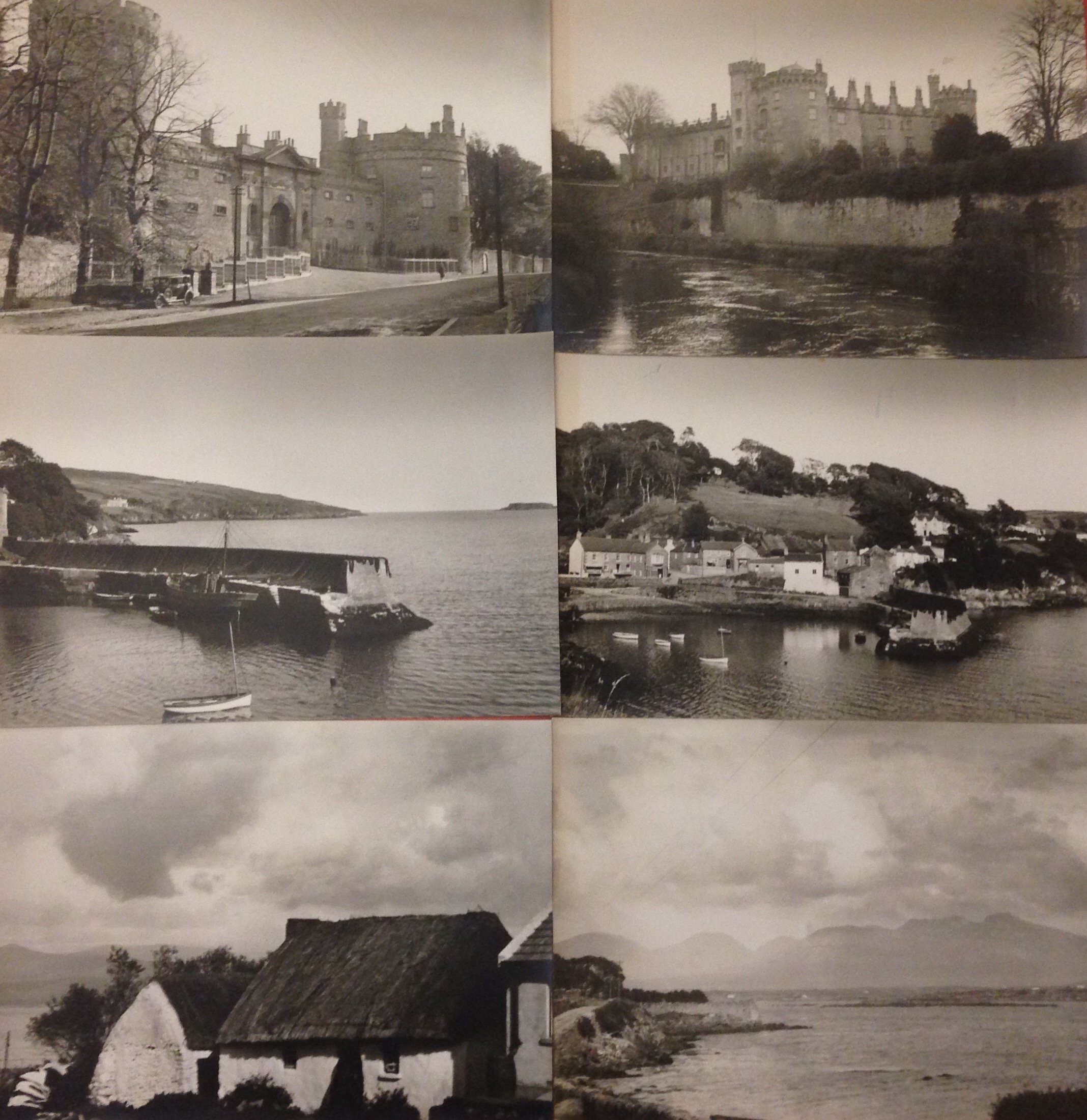 Vintage Early 20th Century Ireland Countryside Castle Boats Homes 6 Photograph Portfolio