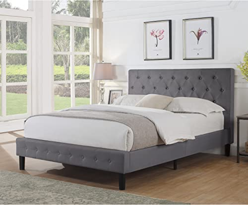 Rosevera Diamond Upholstered Platform Bed