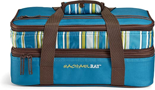 Rachael Ray Expandable Lasagna Lugger, Double Cerole Carrier for Parties on