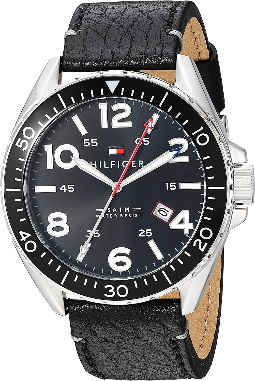 Tommy Hilfiger Men s 1791131 Casual Sport Analog Display Quartz Black Watch