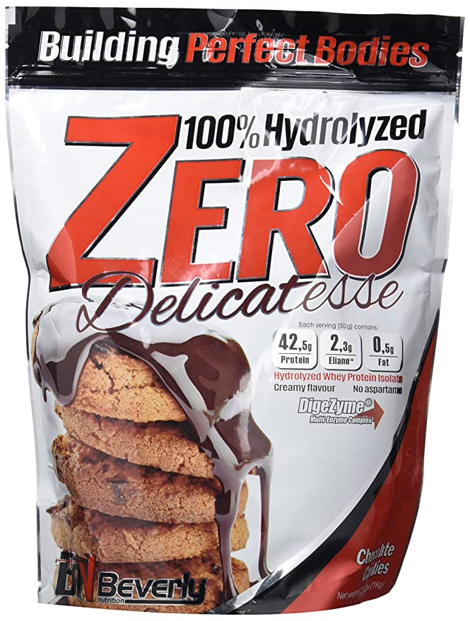 Beverly Nutrition Delicatesse Hydrolyzed Zero Proteína Hidrolizada Sabor Chocolate y Cookies - 1000 gr: Amazon.es: Salud y cuidado personal