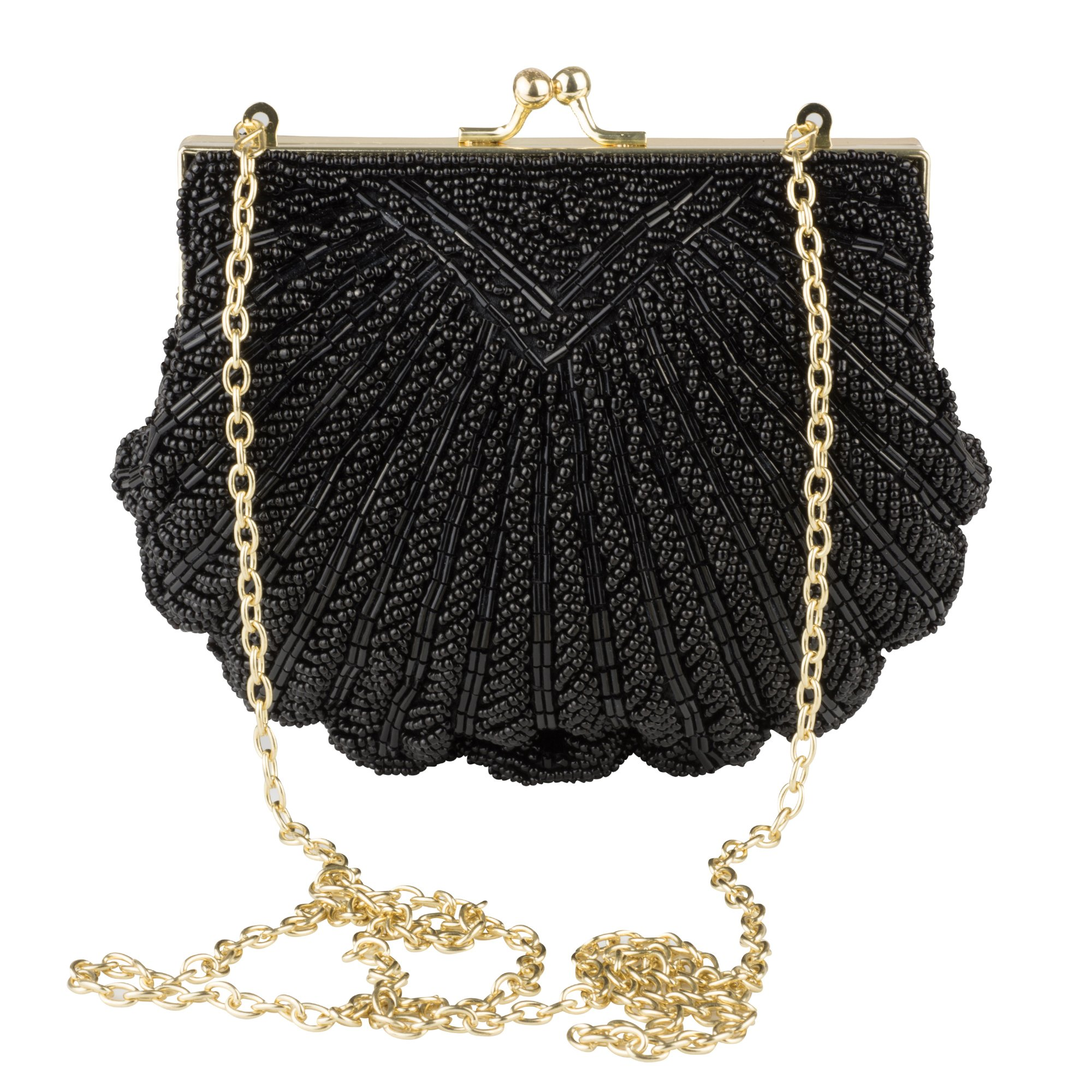 La Regale Evening Clutch Handbag – Iconic Fully Beaded Sea Shell Purse