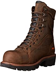 """Timberland Pro Men's Rip Saw 9"""" Waterproof in Comp Toe BR Work Boot Brown"""