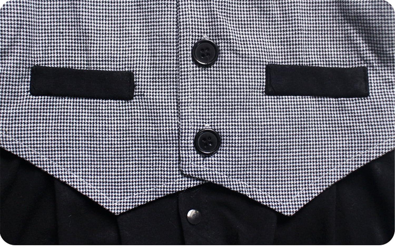 stile gentleman Grey 0-6 mesi monopezzo manica lunga Tutina//pagliaccetto per neonato