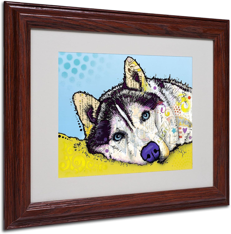 Siberian Husky Puppy Original Art Print 8x10 Matted to 11x14
