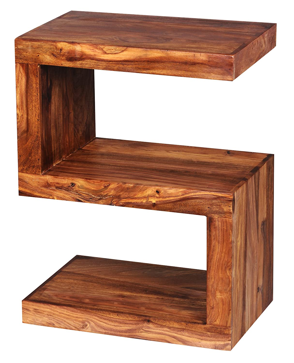 Wohnling Solid Wood Side Table S Cube 45 X 30 X 60cm With Shelf, Furniture  NEW: Amazon.co.uk: Kitchen U0026 Home