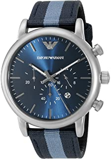 Emporio Armani Mens AR1949 Dress Blue Nylon Watch
