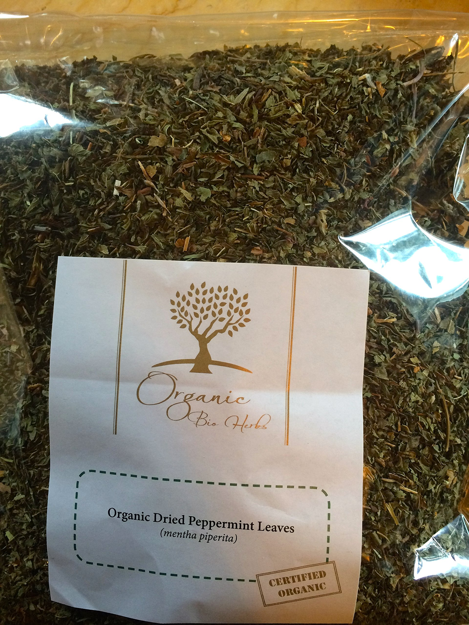 Organic Bio Herbs-Organic Dried Peppermint Leaves Cut (Mentha Piperita) 6 Oz. by Organic Bio Herbs (Image #1)