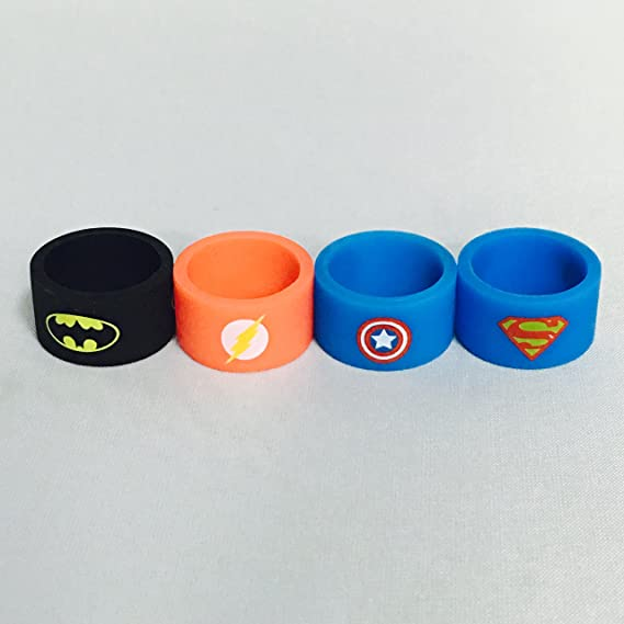 820561c2c14a04 Image Unavailable. Image not available for. Color  Silicone Superhero Vape  Bands Tank Band Batman ...