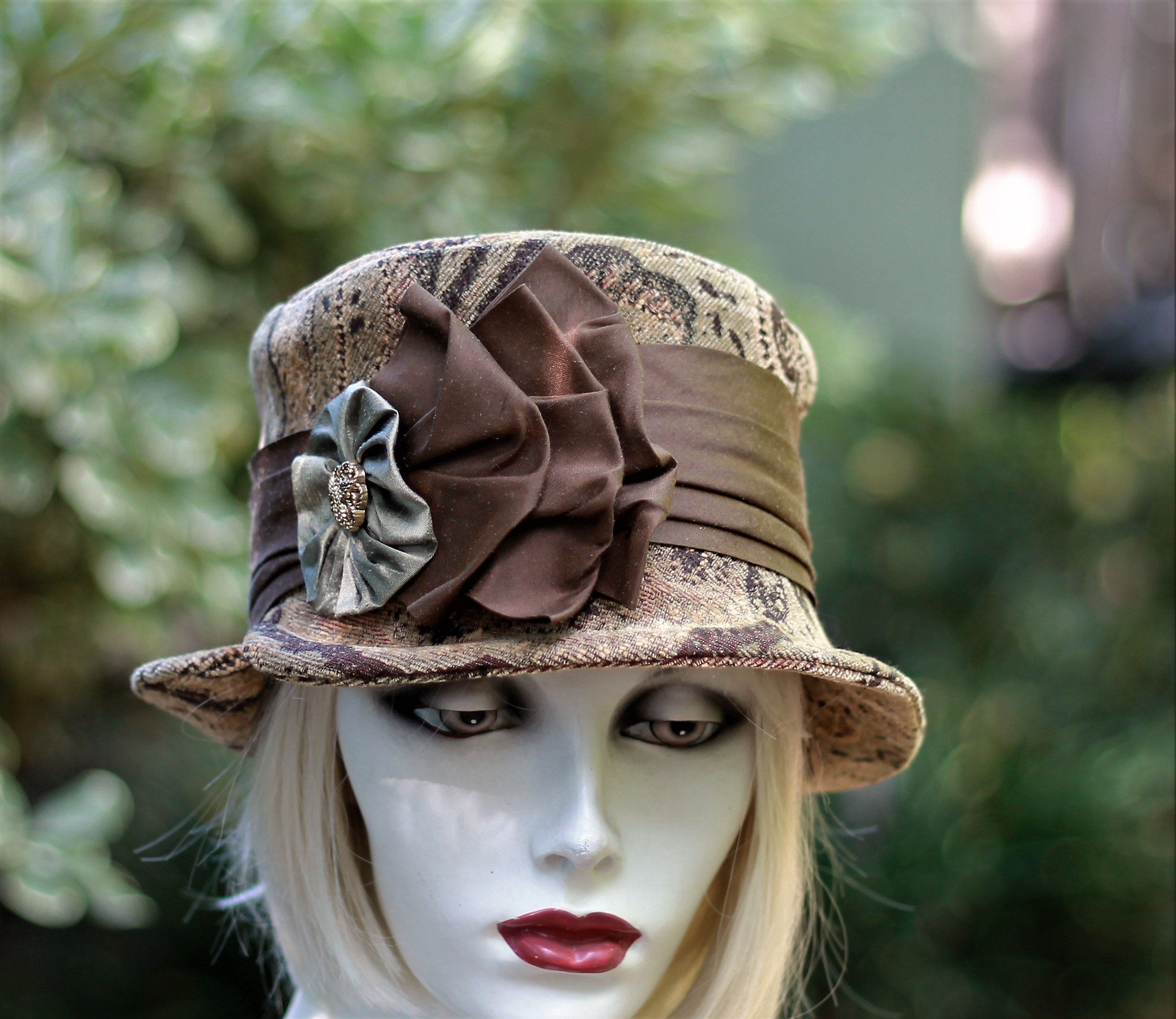 Hand Made Vintage Style Downton Abbey Bucket Hat