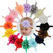 16pcs Baby Girls Headbands Flowers Soft Hairbands Headbands Hair Accessories for Baby Girls Infants Toddler and Kids