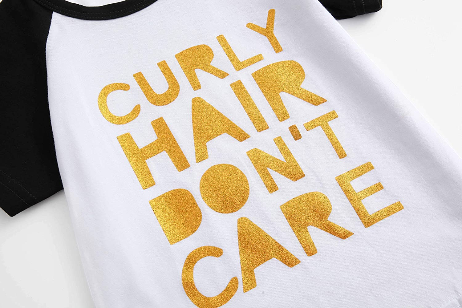 Toddler Baby Girls Boys Raglan Tees for Short Sleeve Cotton T-Shirt Baseball Jesey Culy Hair Dont Care