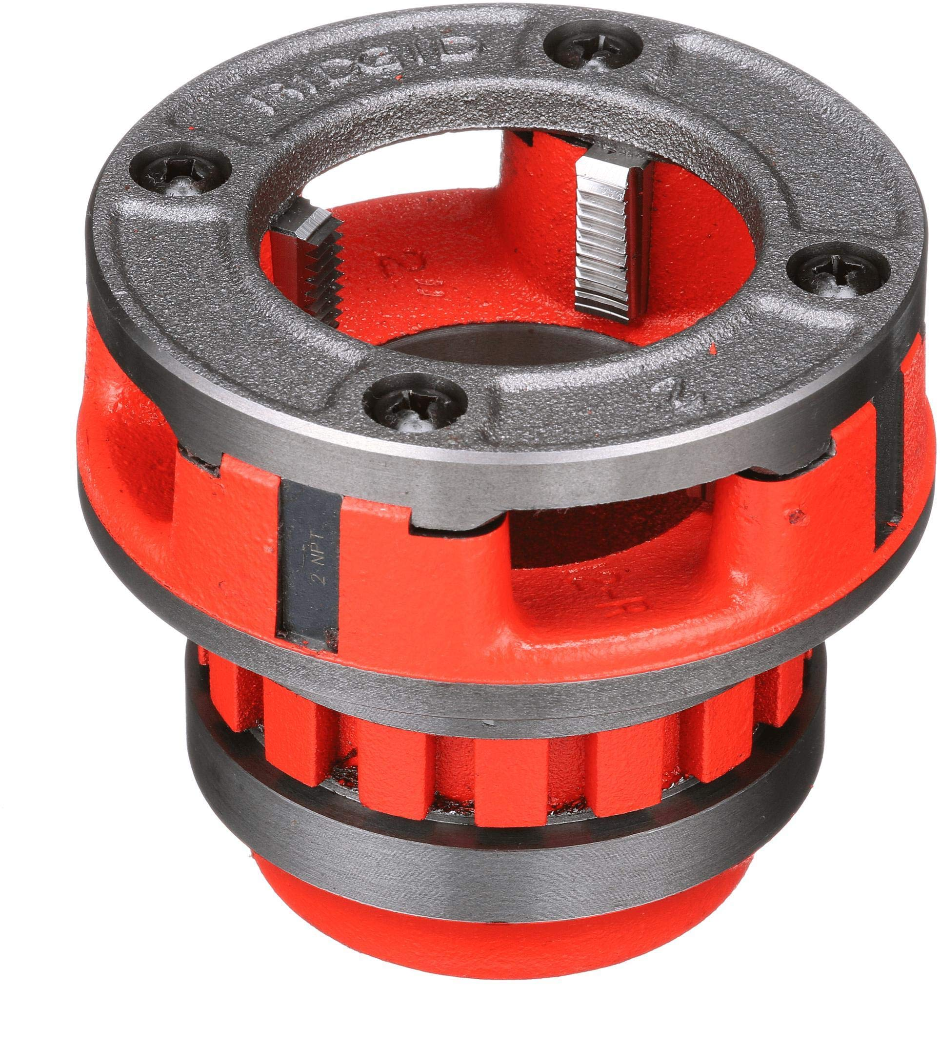 RIDGID 37415 Model 12-R Hand Threader Die Head, Alloy Right-Handed NPT Die Head for Nominal Pipe Size of 2-Inches
