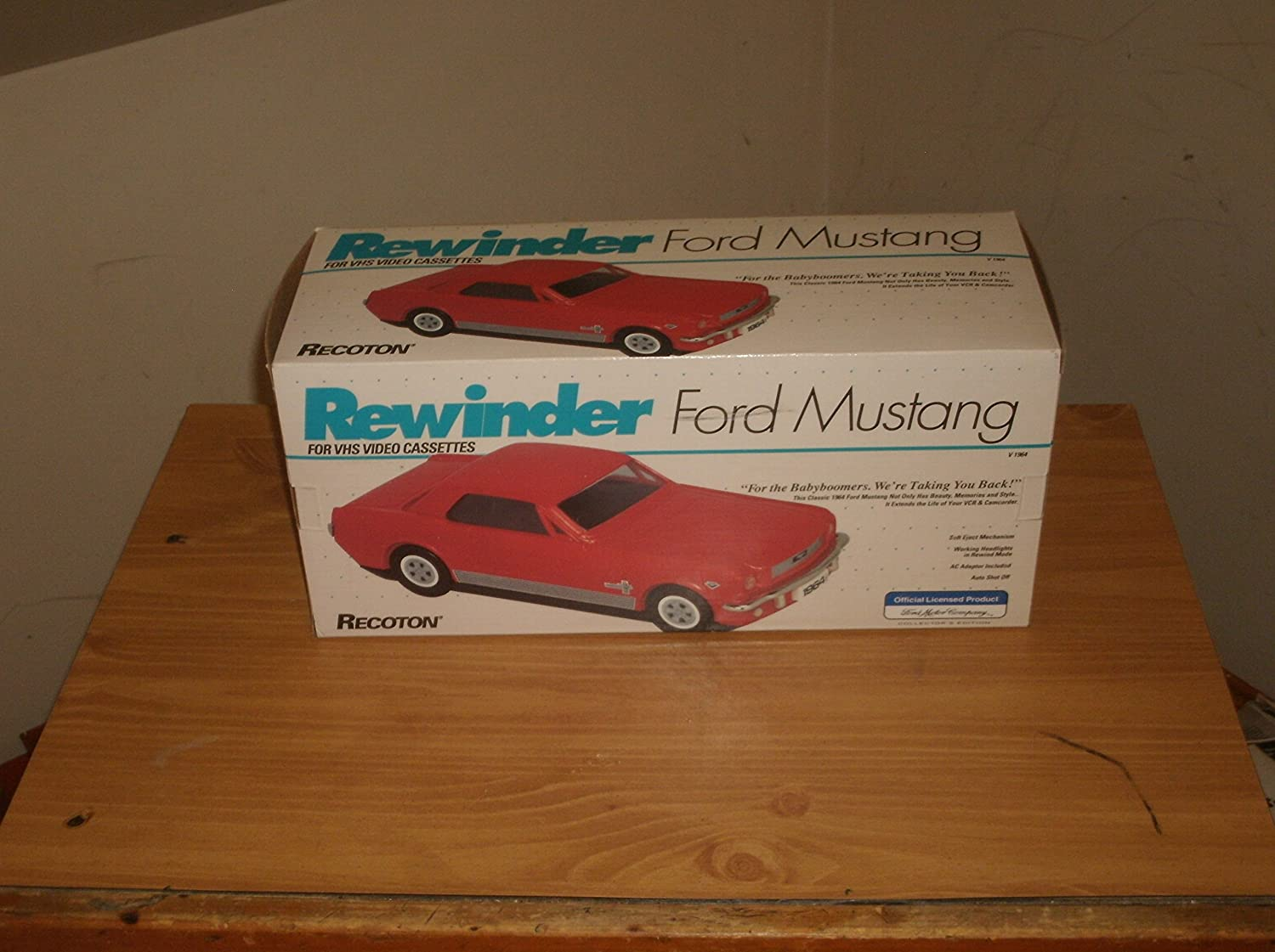 Ambico 1964 Ford Mustang Vhs Video Tape Rewinder Home Grand Torino Audio Theater