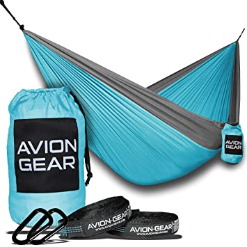 Avion Gear Hammock | Portable And Lightweight Perfect For Camping |  Complete Kit: 2 Hammock