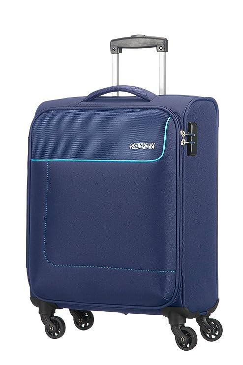 American Tourister- Funshine spinner 4 ruedas 55/20 equipaje de mano, azul (orion blue), S (55cm-36L)