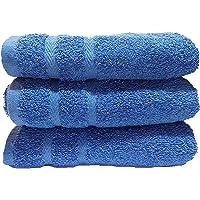 Juego Toallas 100% algodón , Juego de 3 Toallas 50x100 cm. 500 gr. , para baño Gimnasio Tenis padell natación etc.