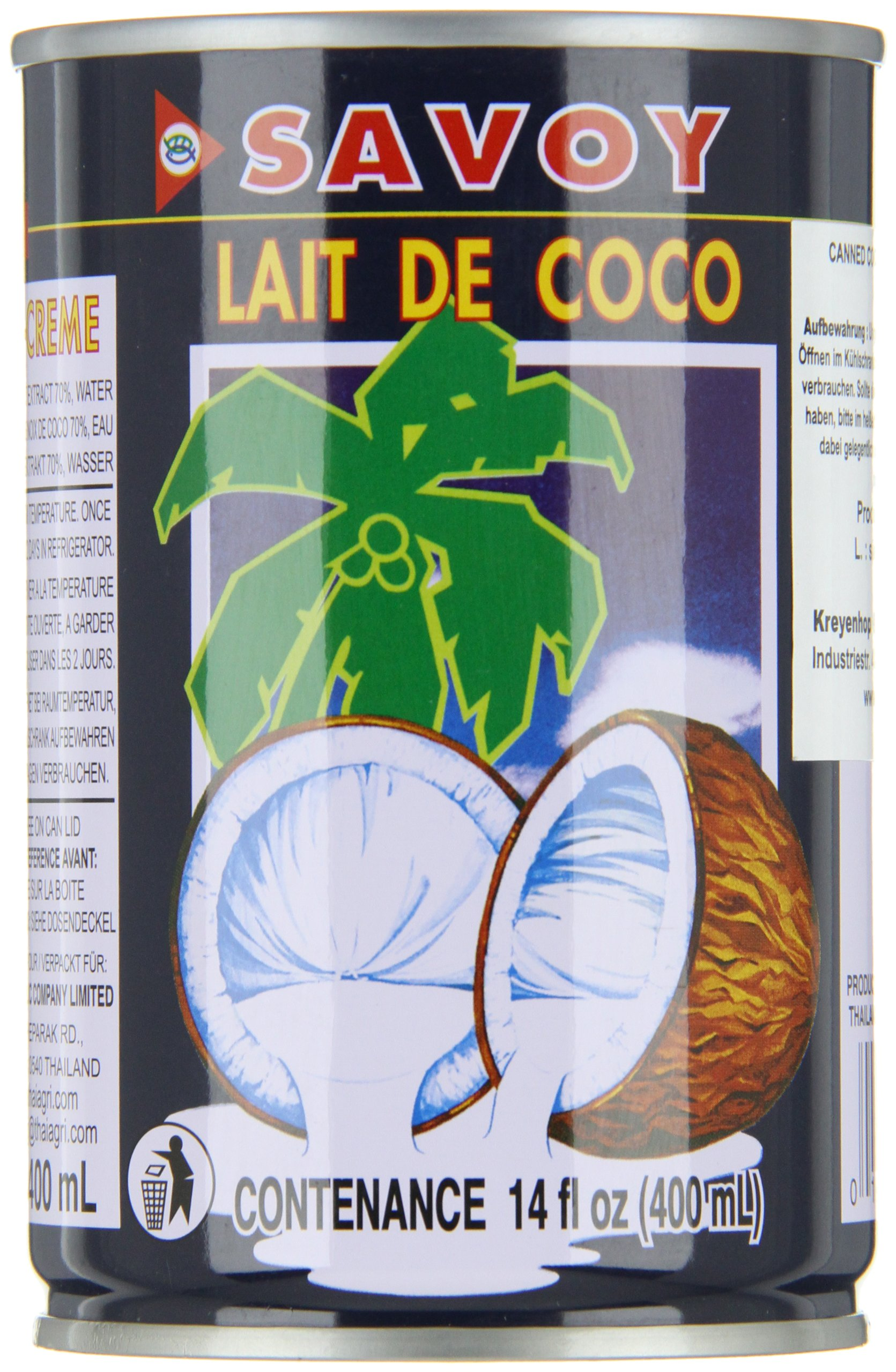 Savoy Coconut Cream, 14 Fluid Ounce (Pack of 12) by Savoy (Image #2)