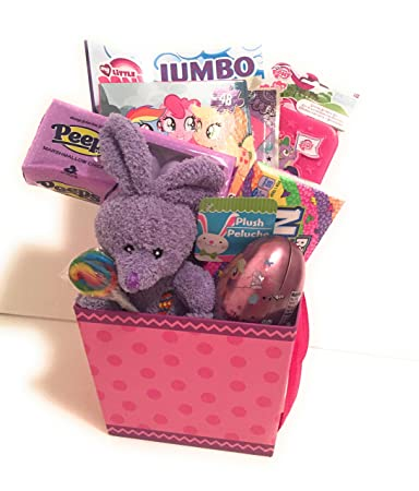 My Little Pony Easter Holiday Gift Basket or Birthday Basket - Puzzle, Play&GoPack, Candy