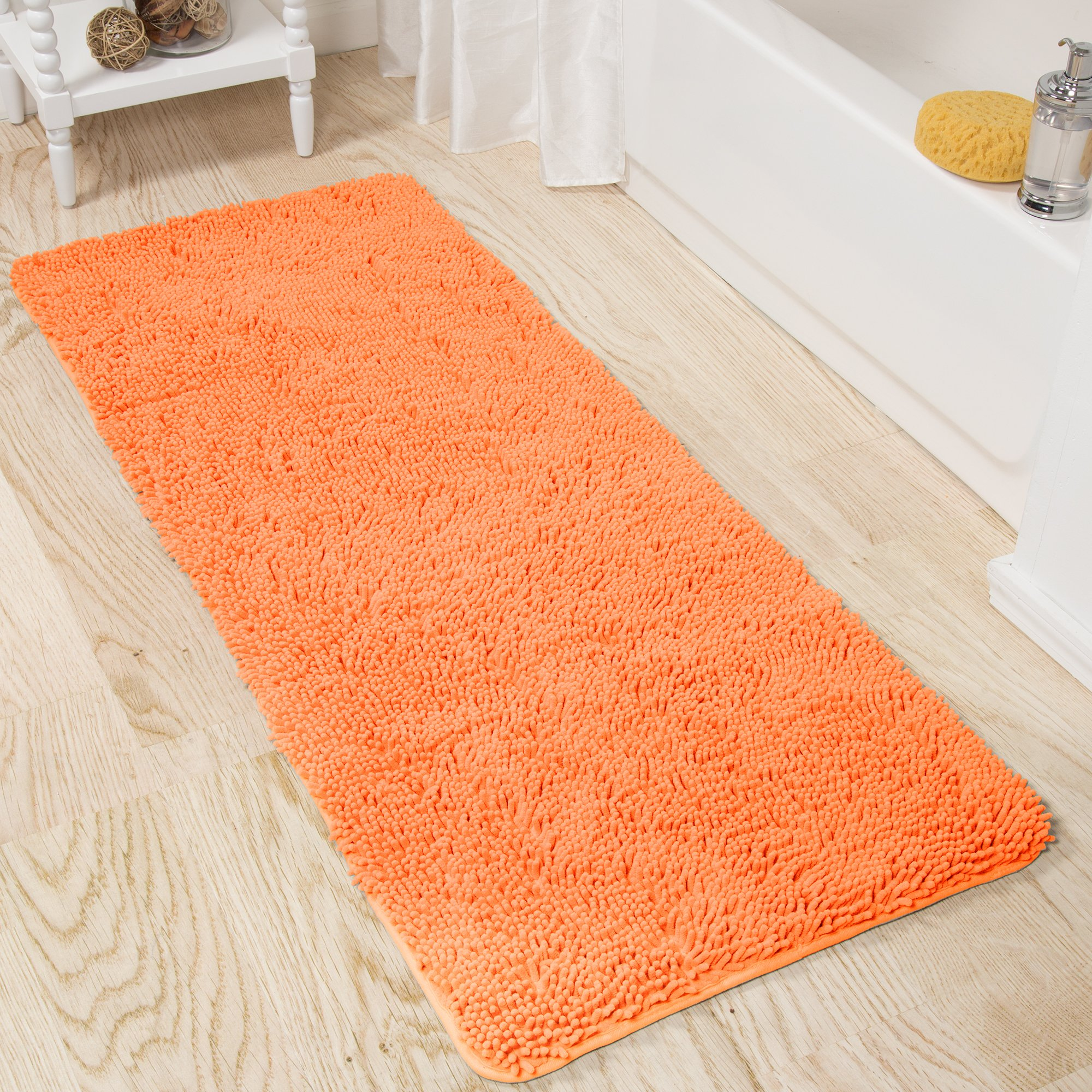 Lavish Home 67-19-PE Shag Bath Mat