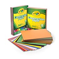 Crayola 99-0013 Construction Paper Bulk, 10 Colors, Great for Crafts, 480 Count, Stocking Stuffer