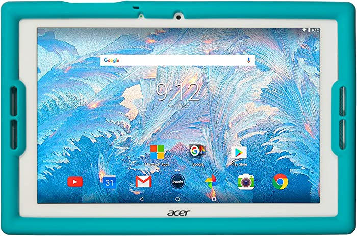 BobjGear Bobj Rugged Tablet Case for Acer Iconia B3-A40 and B3-A30 Kid Friendly (Terrific Turquoise)