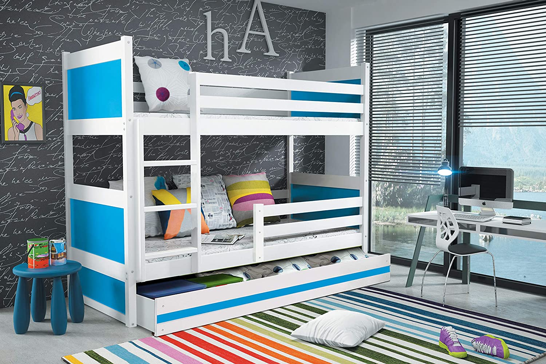 Etagenbett Rico 2 : Interbeds etagenbett rico cm farbe weiβ mit lattenroste und