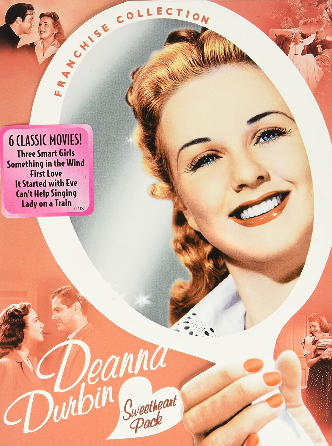 Deanna Durbin Sweetheart Pack (Three Smart Girls / Something In the Wind / First Love / It Started with Eve / Can't Help Singing / Lady on a Train)