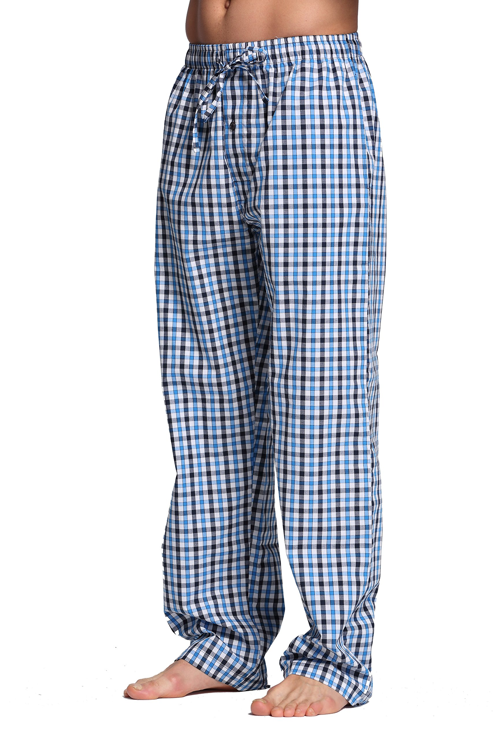 CYZ Men's 100% Cotton Poplin Pajama Lounge Sleep Pant-F1709-L by CYZ Collection
