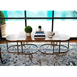 Haven Home Lincoln Deco Walnut Nesting Tables, Set of 3