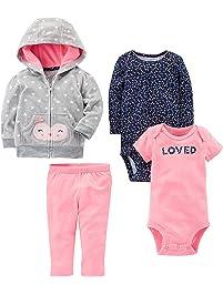 Simple Joys by Carter's Girls' 4-Piece Fleece Jacket Set