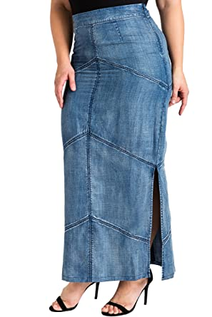 Plus Size Maxi Pencil Skirt