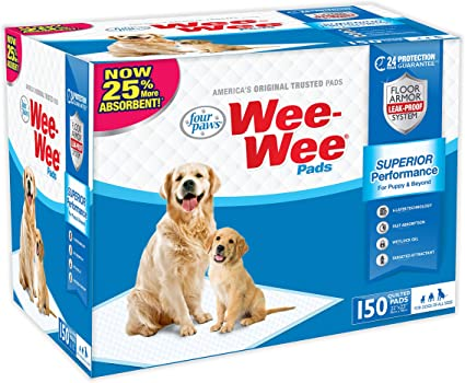 Four Paws 100524305 200-Count Wee-Wee Dog Training Pads Box