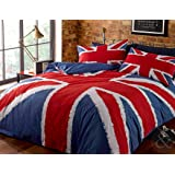 grey black white union jack blanket bedding large british throw kitchen. Black Bedroom Furniture Sets. Home Design Ideas