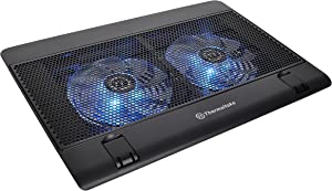 "Thermaltake Massive 14 Steel Mesh Panel Dual 140mm Blue LED Fan Adjustable Speed Control 10""-17"" Laptop Notebook Cooling PadCL-N001-PL14BU-A"