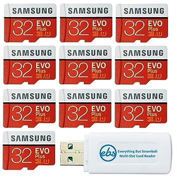 Samsung 32GB EVO Plus Tarjeta MicroSD (10 Pack EVO+ Bundle) Clase ...