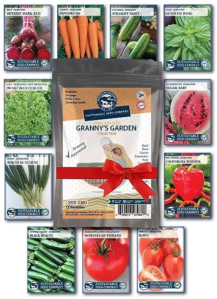 Amazoncom Heirloom Vegetable Garden Seed Collection