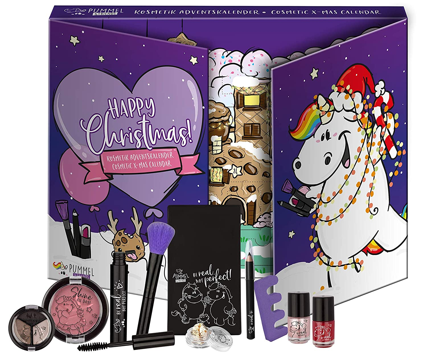 Kosmetik-Adventskalender Offizielles Lizenzprodukt 24 St/ück Pummel /& Friends Pummel /& Friends Beauty Advent Calendar