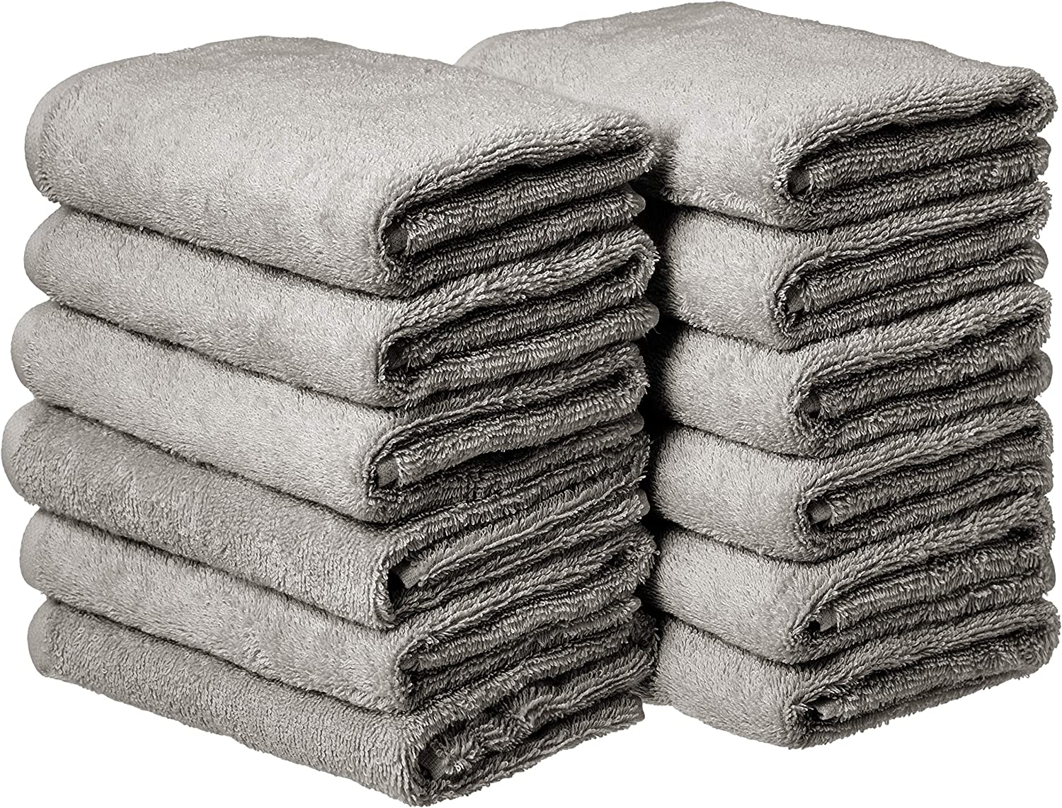 Amazon Com Amazon Basics Cotton Hand Towels Gray Pack Of 12 Home Kitchen