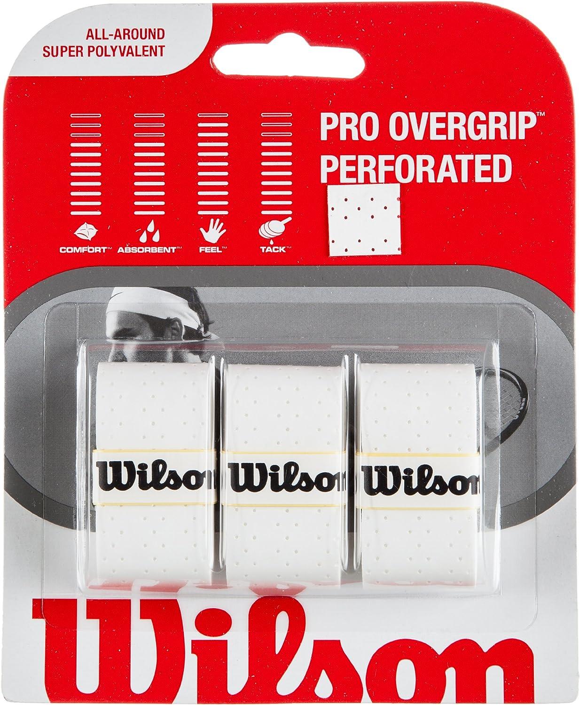 Wilson Sporting Goods Pro Perforado Agarre Raqueta de Tenis (Pack de 3)