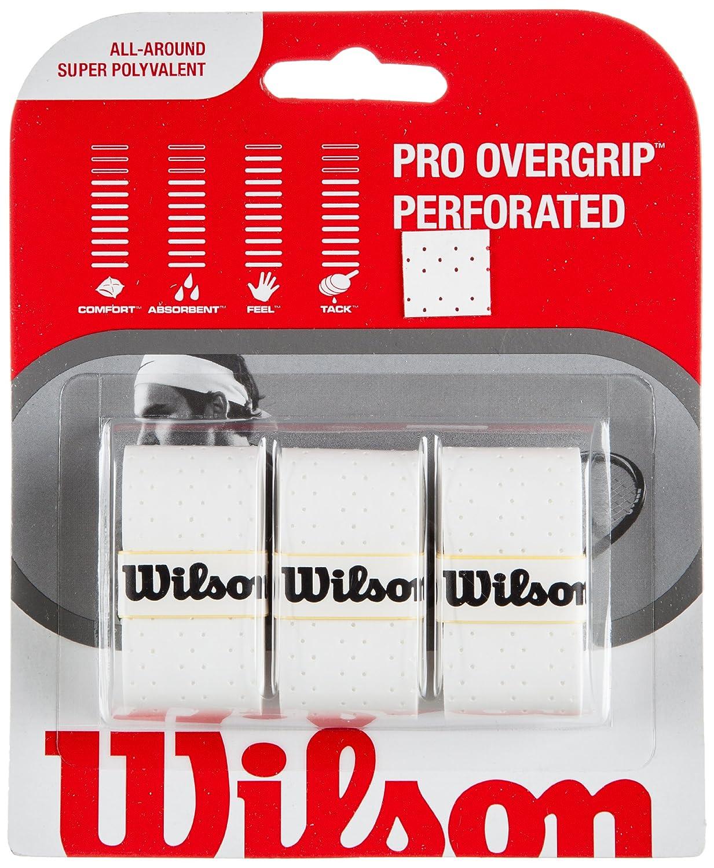 Wilson Sporting Goods Pro perforado agarre raqueta de tenis (Pack de 3), WRZ475400WH, blanco: Amazon.es: Deportes y aire libre