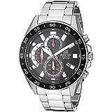 Casio Men's Edifice Quartz Watch with Stainless-Steel Strap, Silver, 4 (Model: EFV-550D-1AVCR)