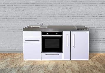 Miniküche Mit Backofen Und Kühlschrank : Stengel steel concept miniküche premiumline mpb a u weiß