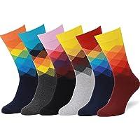 Easton Marlowe 6 Paar Bunt Gemusterte Herren Socken, Europäische Qualität.