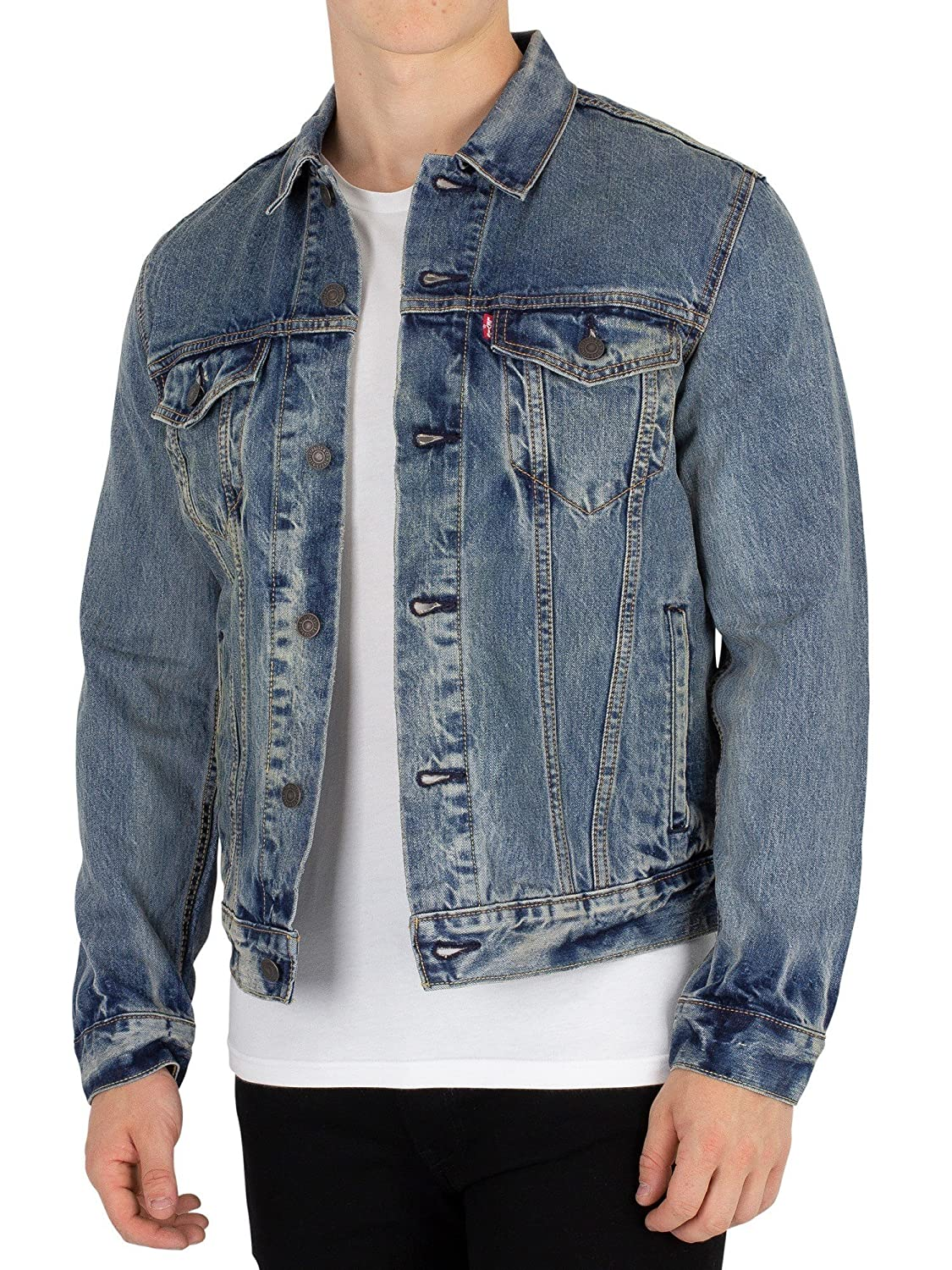 Levis Mens The Trucker Jacket, Blue at Amazon Mens ...